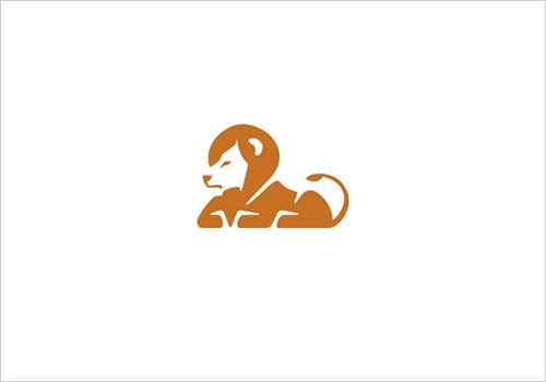 daniel有趣的负空间动物logo设计