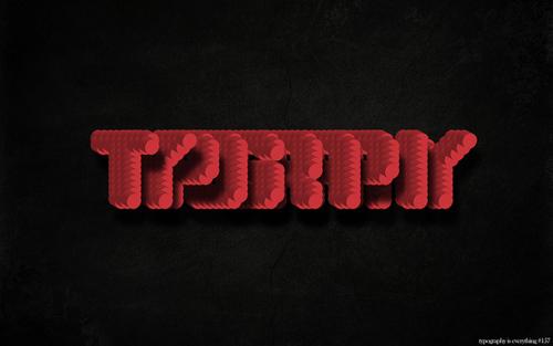 神奇字体设计师的18个新鲜创意(1)