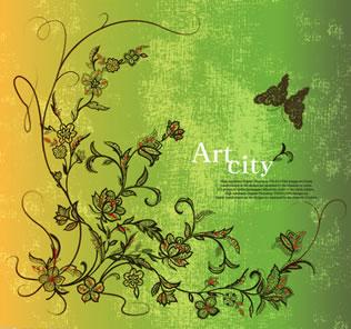 蝴蝶花纹矢量图下载 素材 佛山市广告协会平面设计师委员