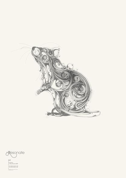 猫头鹰手绘线条
