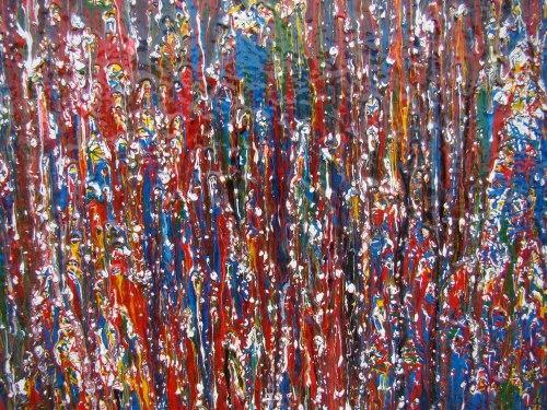 魏琨铭抽象表现主义油画作品