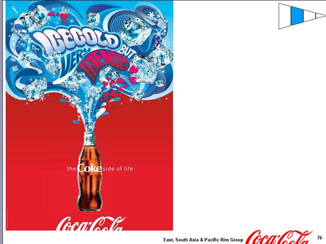 可口可乐的海报总动员