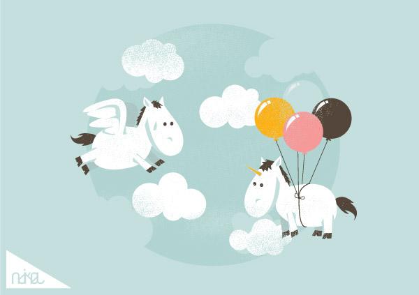 ndikol可爱的动物插画欣赏