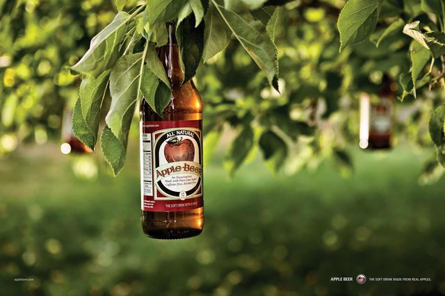 国外创意啤酒广告_平面