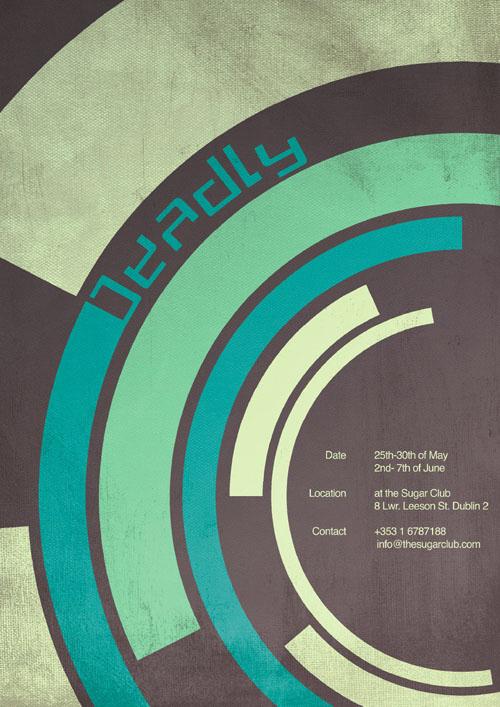 国外艺术展览海报创意设计图片