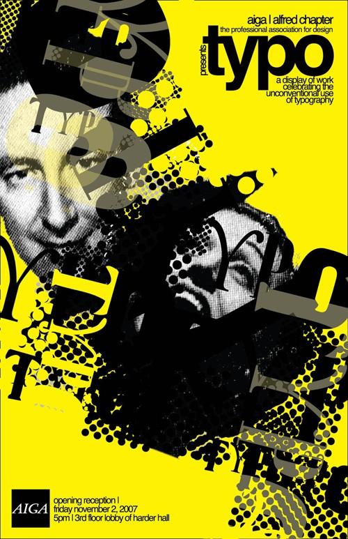 国外艺术展览海报创意设计