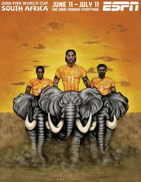 南非世界杯32强手绘海报_博文_佛山设计 师