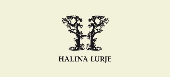字母h的創意logo設計