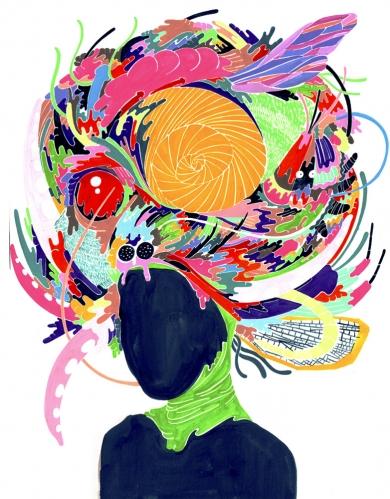 "percival 的猫头鹰插画作品 12-18 ""叶""时尚定制插画 08-29 南瓜子的"