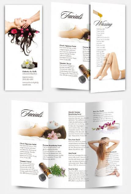案例:美容院折页册子设计思路{设计方法}