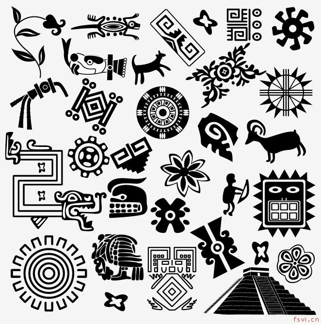 文明字体手绘形状