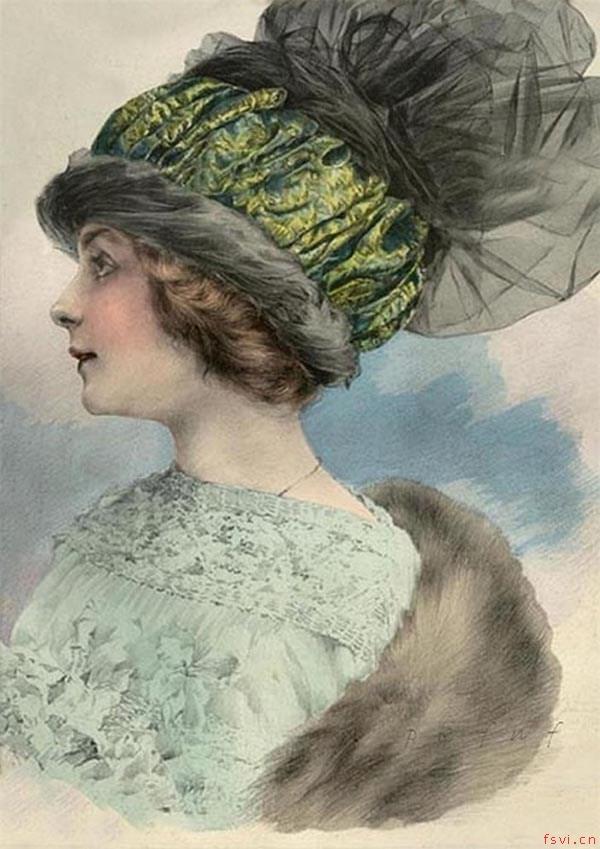 震撼视觉的国外复古帽子插画设计